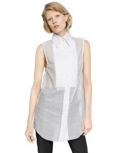 Ellery | Sleeveless Laminated Cotton Lace Shirt