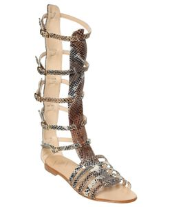 EMANUELA CARUSO | 10mm Printed Leather Gladiator Sandals