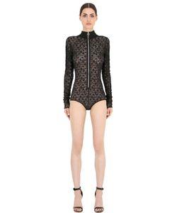 Emiliano Rinaldi | Front Zip Viscose Lace Bodysuit