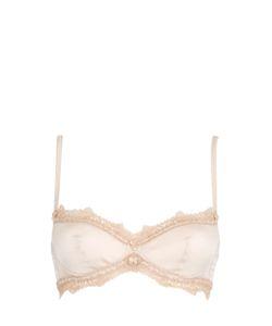 Ermanno scervino lingerie   Stretch Silk Satin Balconette Bra
