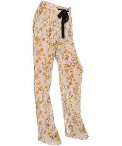 Etro | Floral Viscose Silk Devore Pants