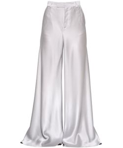 Etro | High Waisted Flared Satin Pants