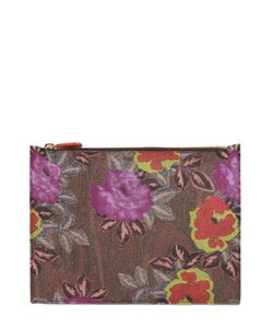 Etro | Paisley Printed Coated Canvas Pouch
