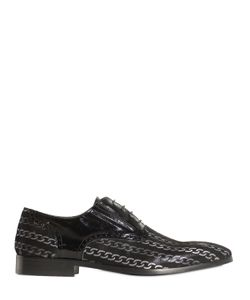 Eveet | Laser-Cut Leather Oxford Lace-Up Shoes