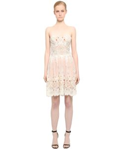 FABIANA MILAZZO | Embellished Strapless Lace Dress