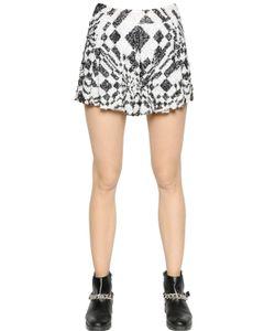 FARAH KHAN   Sequined Stretch Mesh Skirt