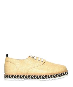 FAREWELL | Lightweight Raffia Lace-Up Shoes