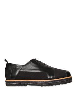 FAREWELL | Canvas Leather Lace-Up Shoes