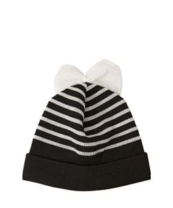 FEDERICA MORETTI | Striped Wool Beanie Hat With Bow
