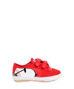 Feiyue | Peanuts Printed Leather Suede Sneakers
