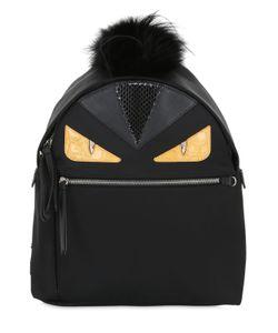 Fendi | Monster Nylon Elaphe Backpack W/ Fur