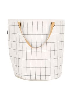 FERM LIVING | Grid Hand-Printed Laundry Basket