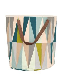 FERM LIVING | Spear Hand-Printed Laundry Basket