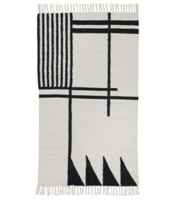 FERM LIVING | Small Black Lines Kelim Rug