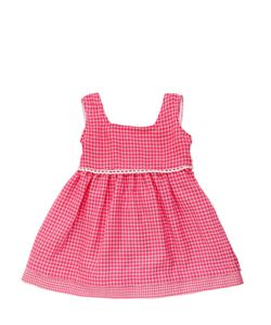 FILOBIO | Cotton Gingham Dress With Bow