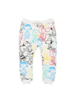 FINGER IN THE NOSE | Snoopy Printed Cotton Jogging Pants