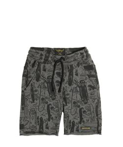 FINGER IN THE NOSE | Skateboards Printed Cotton Shorts