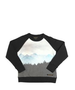 FINGER IN THE NOSE | Mountain Printed Cotton Sweatshirt