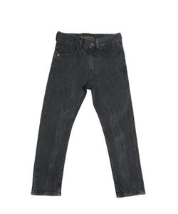 FINGER IN THE NOSE | Stretch Wrinkled Cotton Denim Jeans