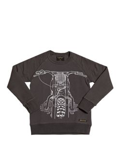 FINGER IN THE NOSE | Motorcycle Printed Cotton Sweatshirt