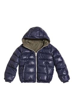 FINGER IN THE NOSE | Reversible Hooded Nylon Down Jacket