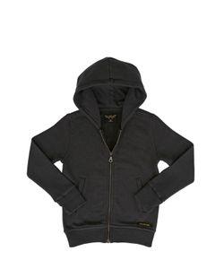 FINGER IN THE NOSE | Hooded Zip Cotton Sweatshirt