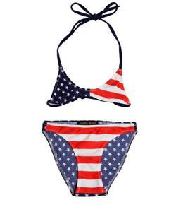 FINGER IN THE NOSE | American Flag Lycra Bikini