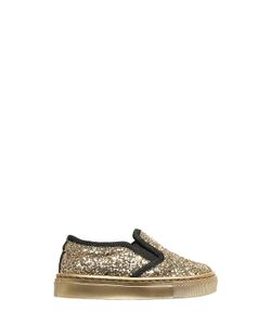Florens | Glittered Leather Slip-On Sneakers