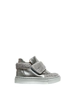 Florens | Studded Nappa Leather Suede Sneakers