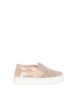 Florens | Metallic Faux Leather Slip-On Sneakers