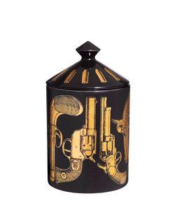 FORNASETTI | Pistole Nero Otto Scented Candle W/ Lid