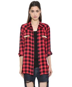 FORTE COUTURE | Thelma Checked Flannel Lace Shirt