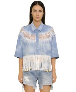 FORTE COUTURE | New Catherine Fringed Denim Shirt