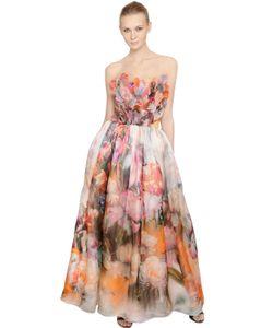 Francesca Piccini | Floral Printed Silk Organza Dress