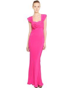 Francesca Piccini | Embellished Silk Crepe De Chine Dress