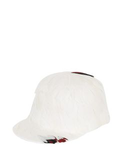 FRANCESCO BALLESTRAZZI | Edwige Feathered Wool Felt Baseball Hat