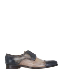 FRANCESCO BENIGNO | Hand-Painted Brogue Derby Lace-Up Shoes