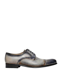FRANCESCO BENIGNO | Hand-Painted Brogue Derby Lace-Up Shoes