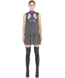 FYODOR GOLAN | Pony Patches Wool Flannel Dress