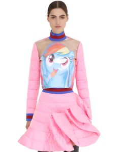 FYODOR GOLAN | Pony Printed Plastic Quilted Satin Top