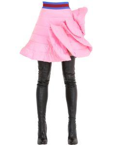 FYODOR GOLAN | Ruffled Quilted Satin Skirt
