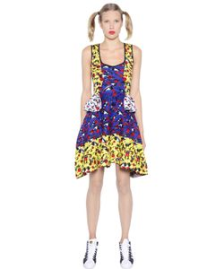 GABRIELAB | Cotton Jacquard Dress With Peplum Waist