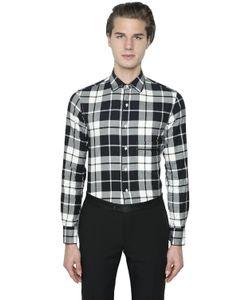 GABRIELE PASINI | Stretch Cotton Flannel Shirt