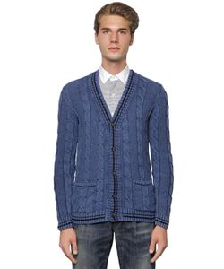 GABRIELE PASINI | Frosted Cotton Cable Knit Cardigan