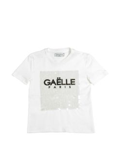 GAELLE PARIS | Sequined Cotton Jersey T-Shirt