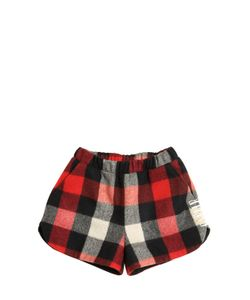 GAELLE PARIS | Plaid Wool Blend Felt Shorts