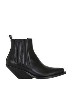 Gaia D'Este   70mm Leather Ankle Boots
