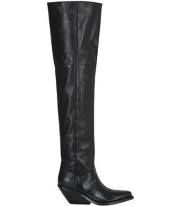 Gaia D'Este | 70mm Leather Over The Knee Boots