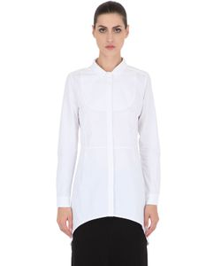 Gattacicova | Cotton Poplin Shirt With Plastron