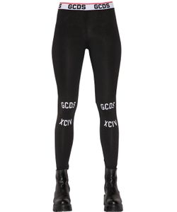Gcds | Printed Cotton Jersey Leggings